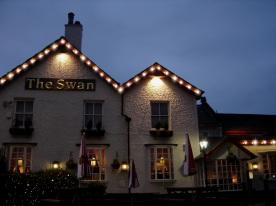 Roofline lighting at The Swan pub