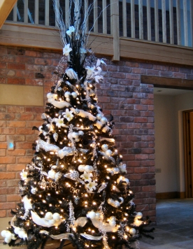 Black and white themed tree